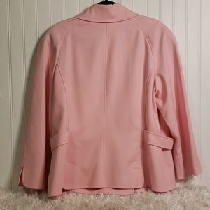 Ellen Tracy Jackets & Coats - Ellen Tracy Pink Double Breasted Lined Jacket